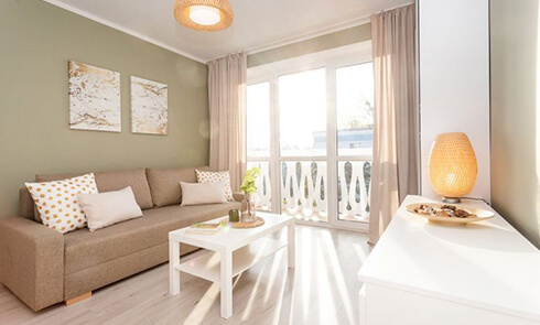 Salon po remoncie w Home Designers